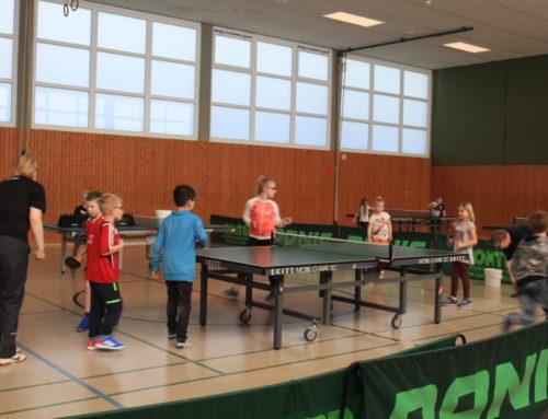 23 Kinder beim 1. Tischtennis-Schnupper-Nachmittag für Kids dabei
